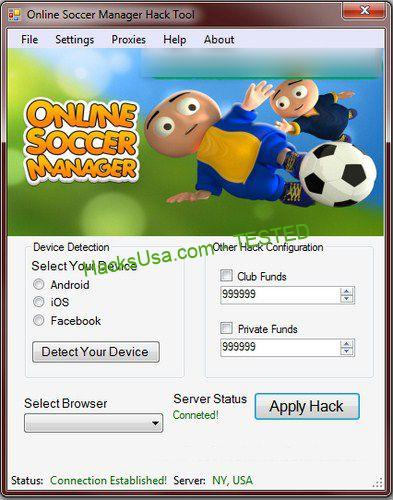 FREE! Online Soccer Manager Hack No Survey Online Generator for ...