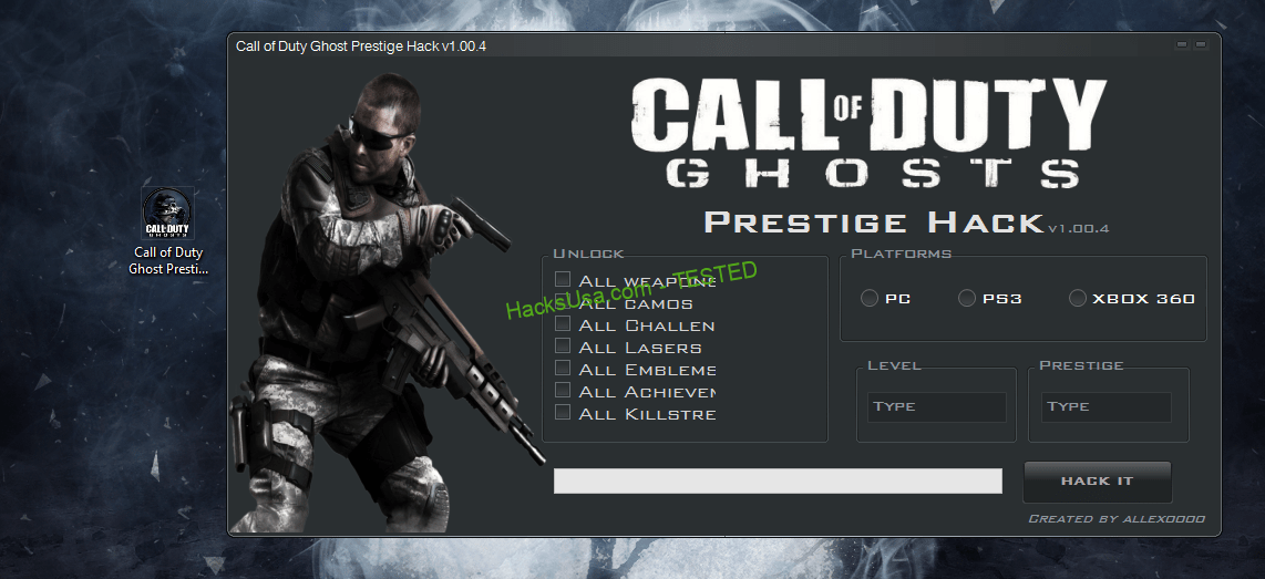 Call of Duty Ghosts Prestige Hack prestige level Unlimited weapons 2