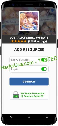 Lost Alice Shall We Date MOD APK Unlimited Story Tickets Lapis