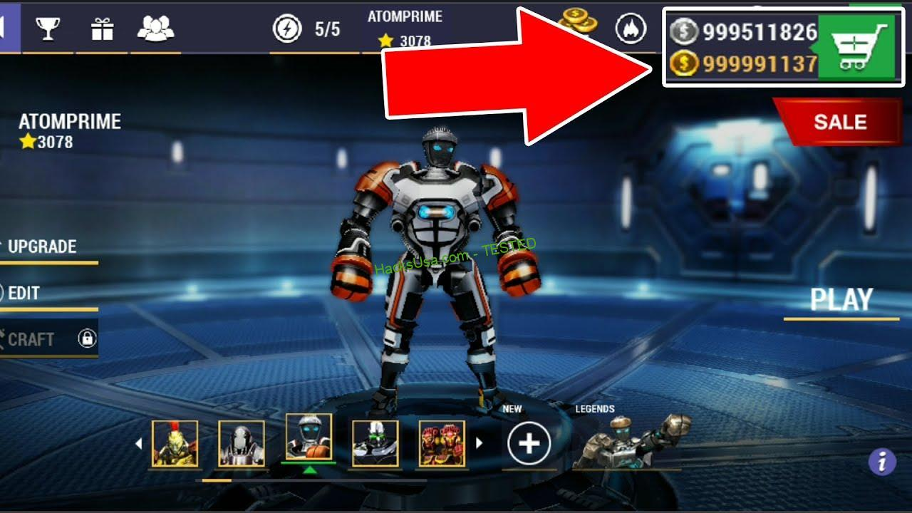 Real Steel Champions Hack Unlimited number of Gems, Tokens