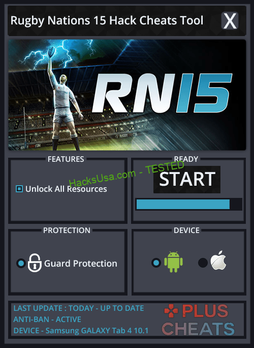 Rugby Nations 15 Hack unlimited times