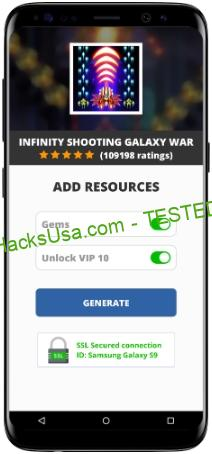 Infinity Shooting Galaxy War MOD APK Unlimited Gems Unlock VIP 10