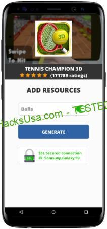 Tennis Champion 3D MOD APK Unlimited Balls
