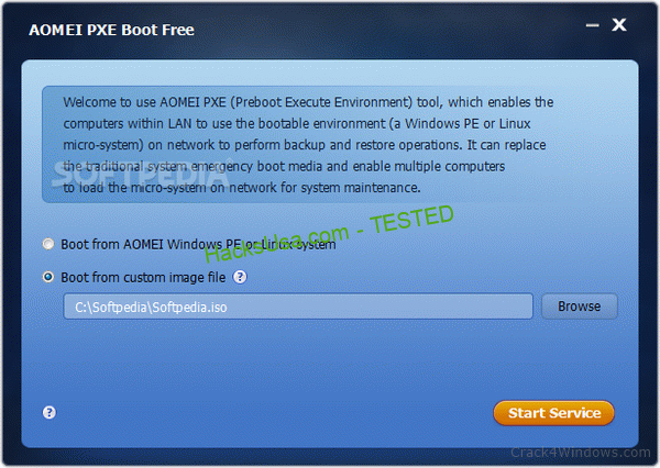 AOMEI PXE Boot Free 1.5 Crack + Serial Number
