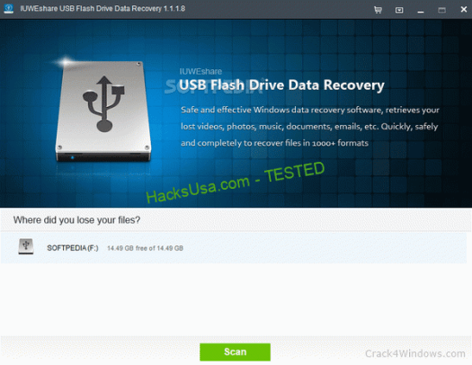 IUWEshare USB Flash Drive Data Recovery Crack With License Key