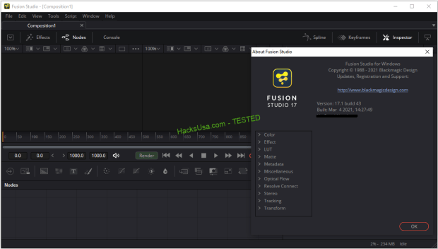 Blackmagic Design Fusion Studio v17 (x64) Portable