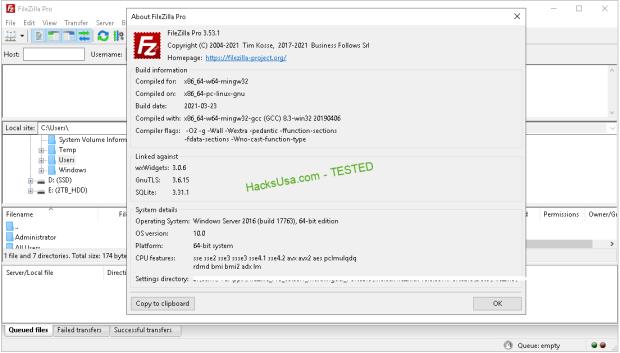 FileZilla Pro v3 53 1 (x86/x64) Multilingual Portable