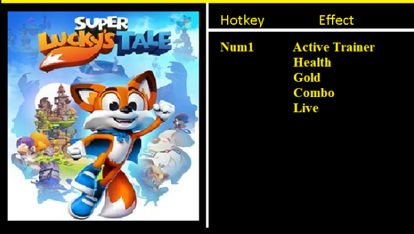 New Super Lucky's Tale Trainer Infinite Health