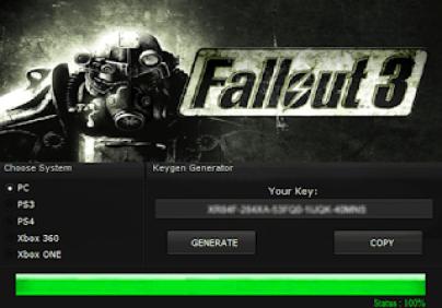 FALLOUT 3 KEY GENERATOR KEYGEN FOR FULL GAME + CRACK