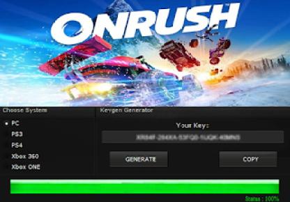 ONRUSH KEY GENERATOR KEYGEN FOR FULL GAME + CRACK