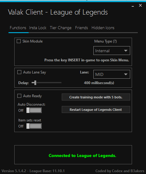 (Valak Client) League of Legends Free Cheat Undetected