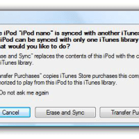 What Does Erase and Sync Do in iTunes?