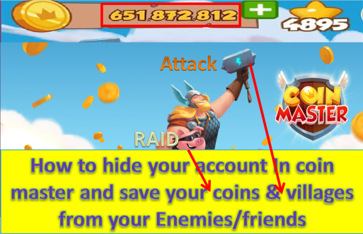 how to hide your coin master account