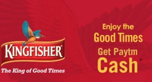 Free Paytm Cash on Kingfisher Beer