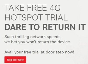 airtel free 4g hotspot trial offer