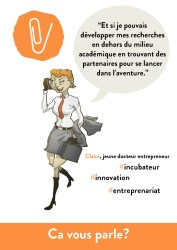 Jeune docteur entrepreneur