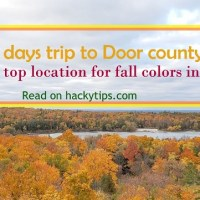 Door county; One of the top location for fall colors in the US