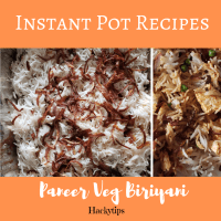 Instant Pot Veg Paneer Biriyani recipe