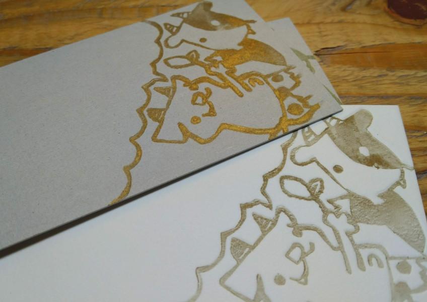 #Kappanga #活版画 #Japaneseillustration #letterpress #originalcard #Hadakanbonezumi