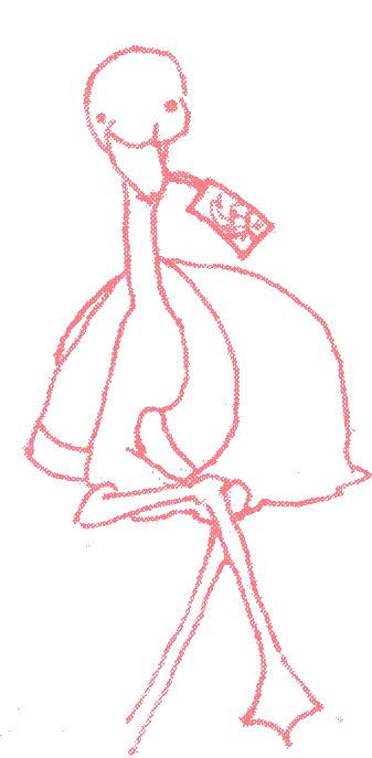 一息のフラミンゴさん
