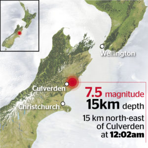 北カンタベリー地震・ニュージーランド
