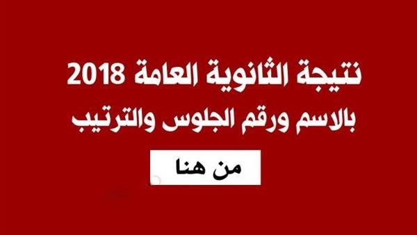 نتيجة الثانوية العامة 2018 بالاسم ورقم الجلوس عبر موقع وزارة