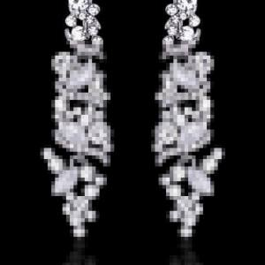 Silver Bridal Drop Earrings
