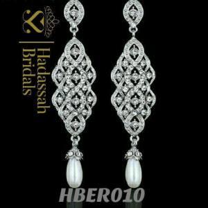 Exquisite Pearl Long Drop Bridal Earrings