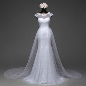 Mermaid Wedding Gown With Detachable Skirt