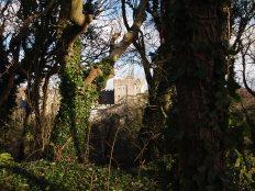 Castell Sain Dunwyd drwy'r coed