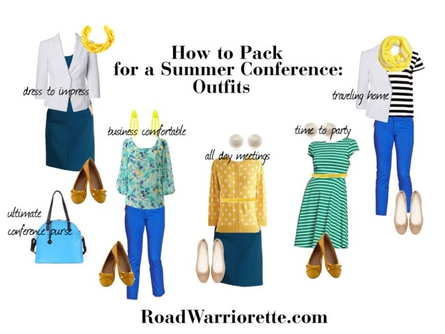 Packing-for-summer-conference-outfits