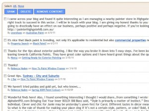 Blogger comments manager