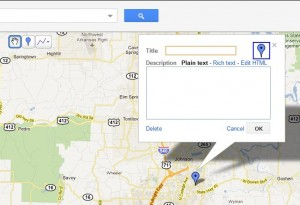 add a placemark to Google Map