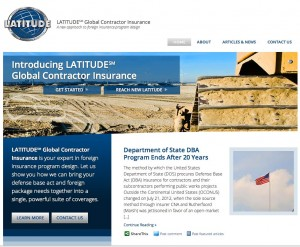 Screen Capture of Latitude Web site home page