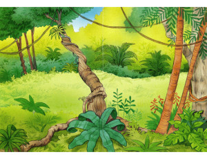 jungle diorama background