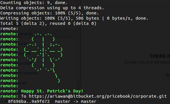 Bitbucket St Patrick's Day