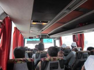 Menuju Mekkah di dalam bis