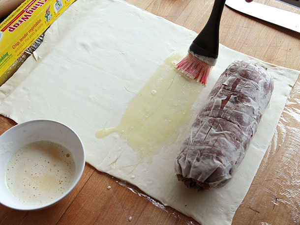 Beef Wellington Recipe - Place the tenderloin and measure the pastry