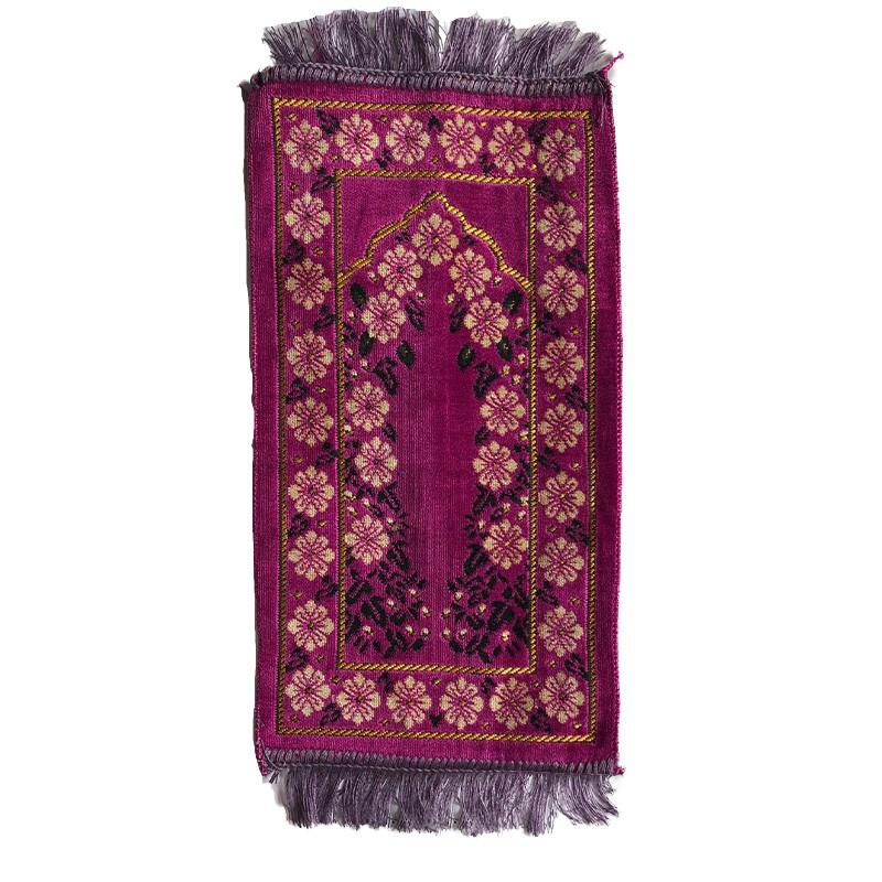 tapis ultra doux pour enfant 33 x 58 cm couleur mauve motif floral