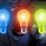 stylised light bulbs