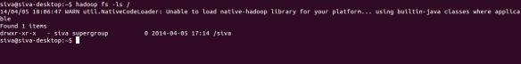 Hadoop Warn2