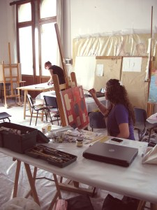 Inside the UIA Painting Studio (Photo by  Diana Gisolfi)