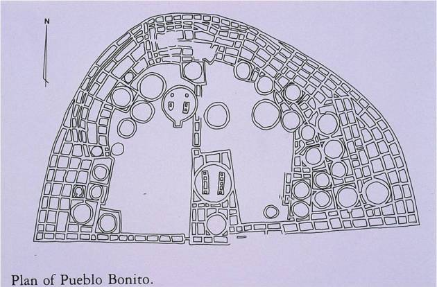 plan of pueblo bonito