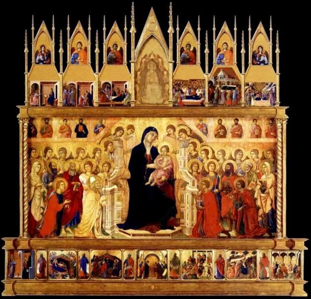 Duccio-Maestà-1308-11-siena-Museo dell'Opera