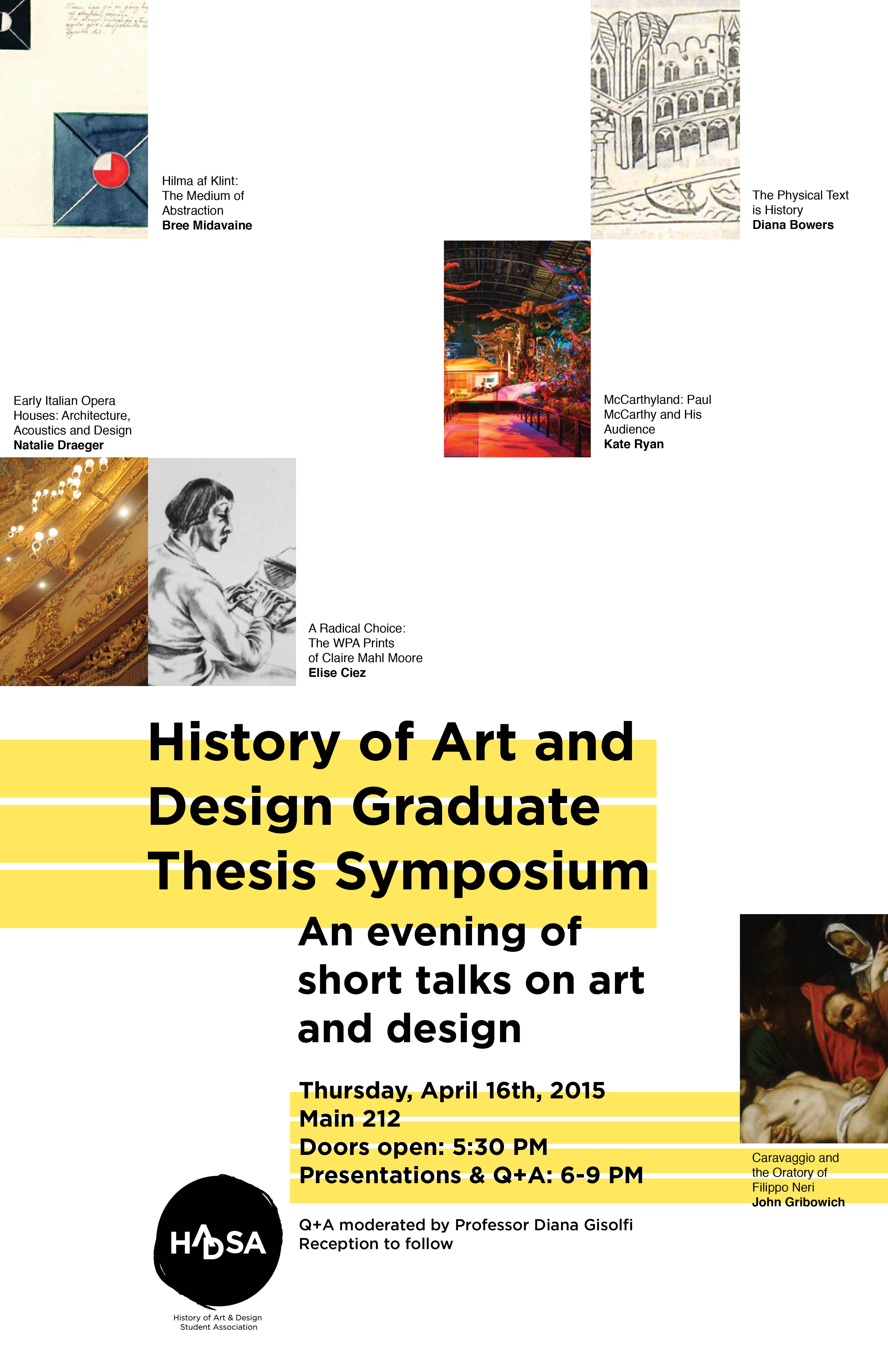 Doctorate thesis in history of art