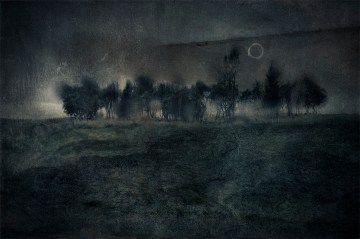 Lilian Day Thorpe - The Moon Rose Over An Open Field
