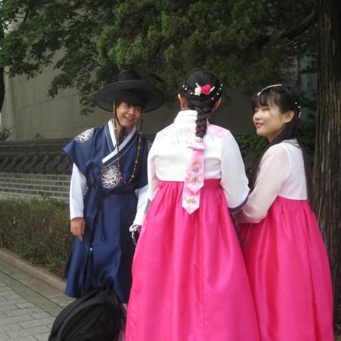 Students wearing Hanbok