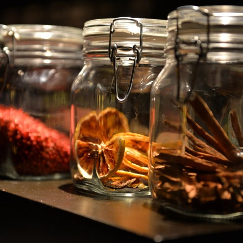 Aromatic goodies at the bar