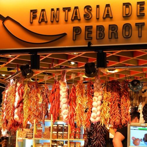 Pepper Stall at La Boqueria