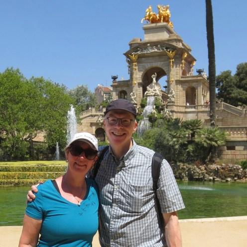 By the fountain at Parc de la Ciutadella